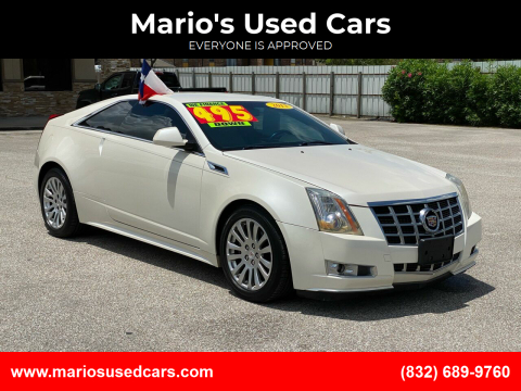 2013 Cadillac CTS for sale at Mario's Used Cars - Pasadena Location in Pasadena TX