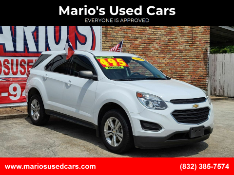 2016 Chevrolet Equinox for sale at Mario's Used Cars - South Houston Location in South Houston TX
