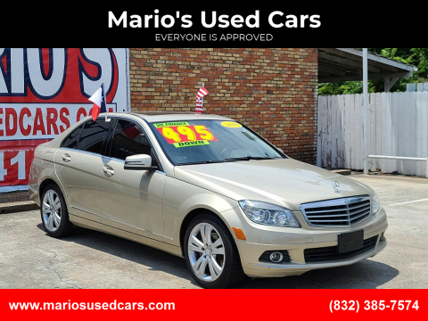 2010 Mercedes-Benz C-Class for sale at Mario's Used Cars - South Houston Location in South Houston TX