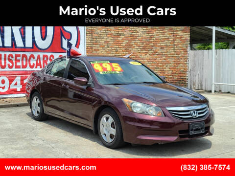 2012 Honda Accord for sale at Mario's Used Cars - South Houston Location in South Houston TX