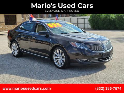 2013 Lincoln MKS for sale at Mario's Used Cars - Pasadena Location in Pasadena TX