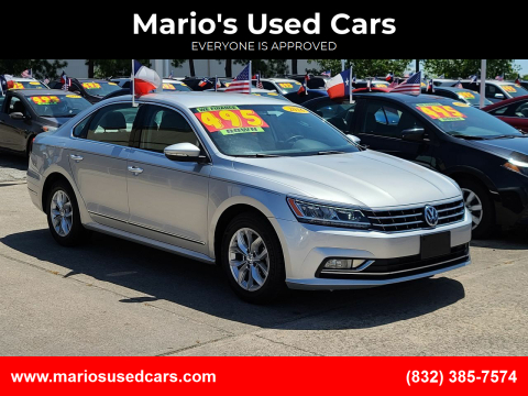 2016 Volkswagen Passat for sale at Mario's Used Cars in Houston TX
