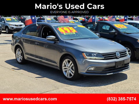 2017 Volkswagen Jetta for sale at Mario's Used Cars in Houston TX