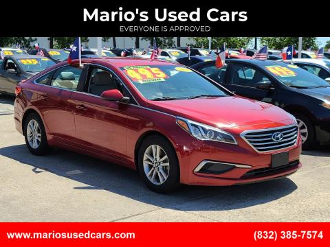 2016 Hyundai Sonata for sale at Mario's Used Cars in Houston TX