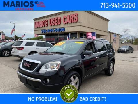 2012 GMC Acadia for sale at Mario's Used Cars in Houston TX
