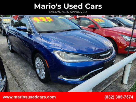2016 Chrysler 200 for sale at Mario's Used Cars - South Houston Location in South Houston TX