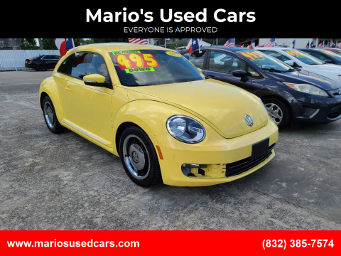2012 Volkswagen Beetle for sale at Mario's Used Cars - South Houston Location in South Houston TX