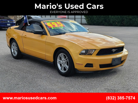 2012 Ford Mustang for sale at Mario's Used Cars - Pasadena Location in Pasadena TX