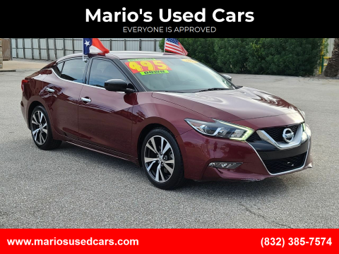 2016 Nissan Maxima for sale at Mario's Used Cars - Pasadena Location in Pasadena TX