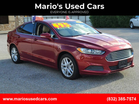 2014 Ford Fusion for sale at Mario's Used Cars - Pasadena Location in Pasadena TX