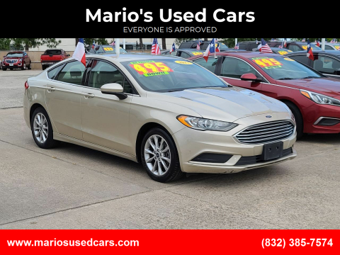 2017 Ford Fusion for sale at Mario's Used Cars in Houston TX