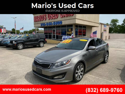 2012 Kia Optima for sale at Mario's Used Cars in Houston TX