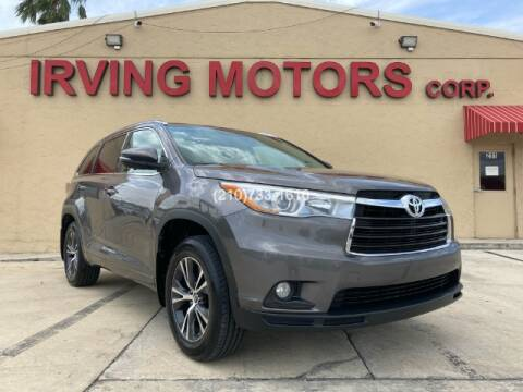 2016 Toyota Highlander for sale at Irving Motors Corp in San Antonio TX