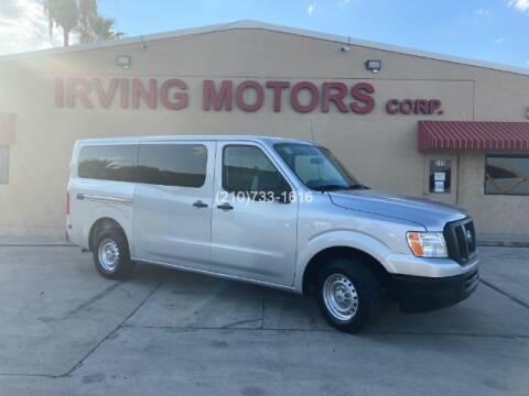 2017 Nissan NV Passenger for sale at Irving Motors Corp in San Antonio TX