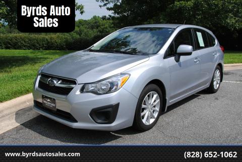2012 Subaru Impreza for sale at Byrds Auto Sales in Marion NC