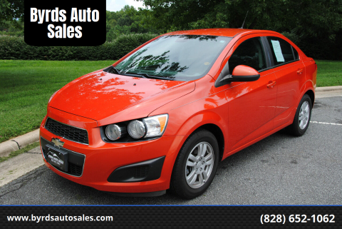 2013 Chevrolet Sonic for sale at Byrds Auto Sales in Marion NC