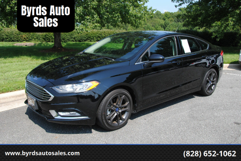 2018 Ford Fusion for sale at Byrds Auto Sales in Marion NC