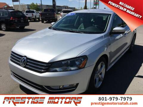 2015 Volkswagen Passat for sale at Prestige Motors LLC in Salt Lake City UT