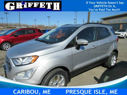 2020 Ford EcoSport for sale at Griffeth Ford in Presque Isle ME