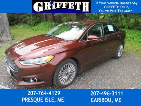 2016 Ford Fusion for sale at Griffeth Ford in Presque Isle ME