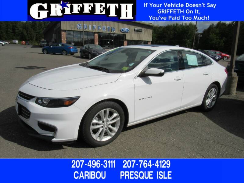 2018 Chevrolet Malibu for sale at Griffeth Ford in Presque Isle ME