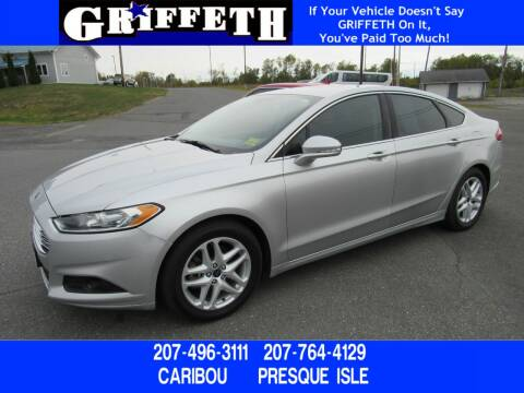 2015 Ford Fusion for sale at Griffeth Ford in Presque Isle ME