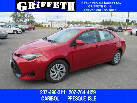 2018 Toyota Corolla for sale at Griffeth Ford in Presque Isle ME