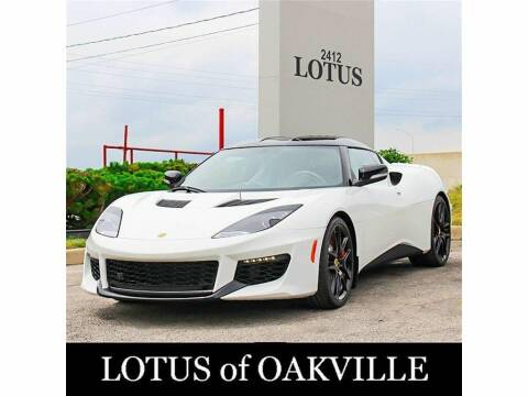 2018 Lotus Evora 400 for sale at Peninsula Motor Vehicle Group in Oakville Ontario NY