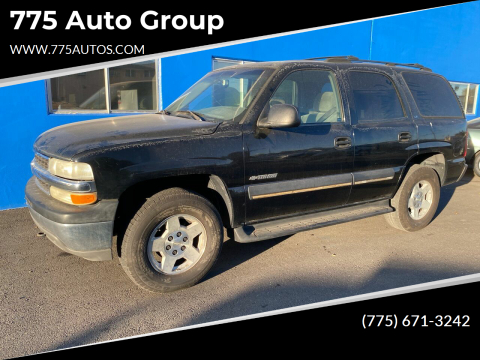 2002 Chevrolet Tahoe for sale at 775 Auto Group in Carson City NV
