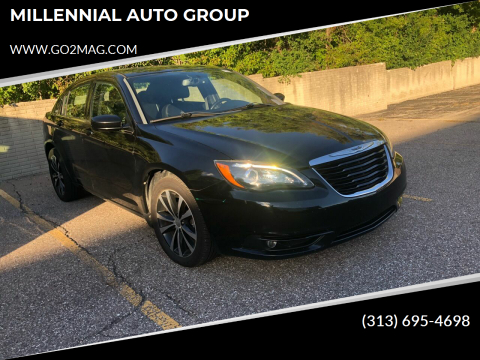 2013 Chrysler 200 for sale at MILLENNIAL AUTO GROUP in Farmington Hills MI