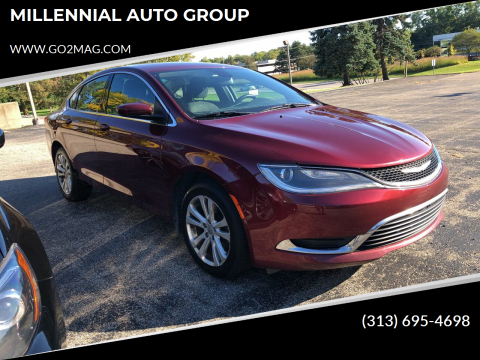2015 Chrysler 200 for sale at MILLENNIAL AUTO GROUP in Farmington Hills MI