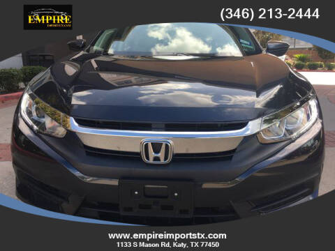 2017 Honda Civic for sale at EMPIREIMPORTSTX.COM in Katy TX