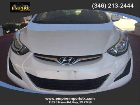 2016 Hyundai Elantra for sale at EMPIREIMPORTSTX.COM in Katy TX