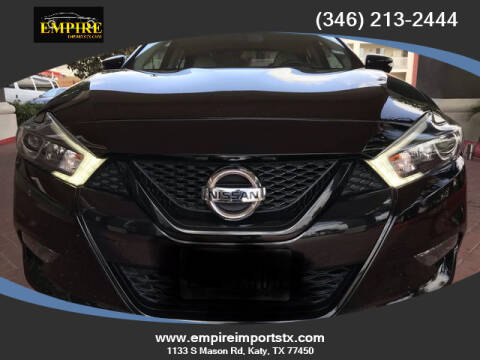 2018 Nissan Maxima for sale at EMPIREIMPORTSTX.COM in Katy TX