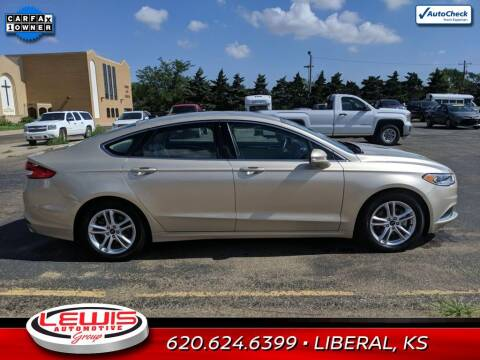 2018 Ford Fusion for sale at Lewis Chevrolet Buick Cadillac of Liberal in Liberal KS