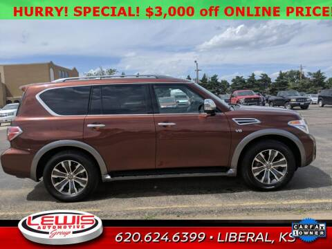 2019 Nissan Armada for sale at Lewis Chevrolet Buick Cadillac of Liberal in Liberal KS