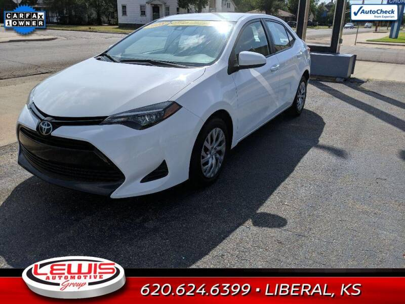 2018 Toyota Corolla for sale at Lewis Chevrolet Buick Cadillac of Liberal in Liberal KS