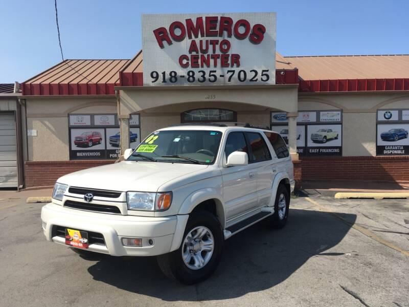 2002 Toyota 4Runner for sale at Romeros Auto Center in Tulsa OK