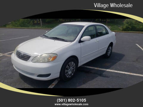 2006 Toyota Corolla for sale at Village Wholesale in Hot Springs Village AR