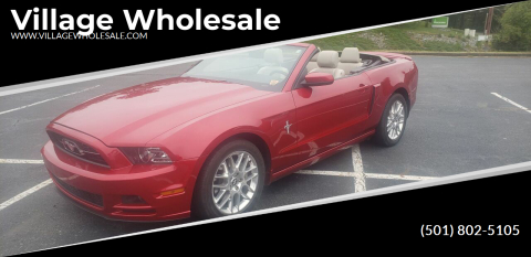 2013 Ford Mustang for sale at Village Wholesale in Hot Springs Village AR