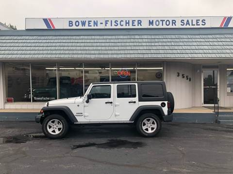 2016 Jeep Wrangler Unlimited for sale at Bowen Fischer Motors Inc in Norton Shores MI