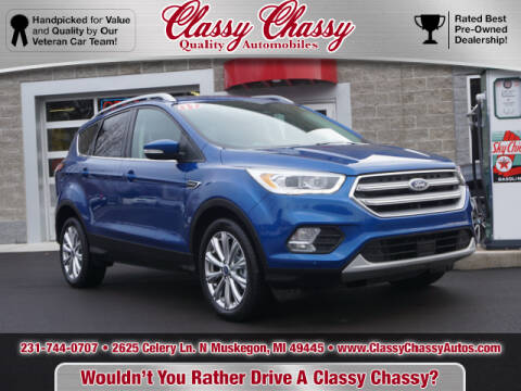 2017 Ford Escape for sale at Classy Chassy in Muskegon MI