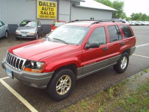 2002 Jeep Grand Cherokee for sale at Dales Auto Sales in Hutchinson MN