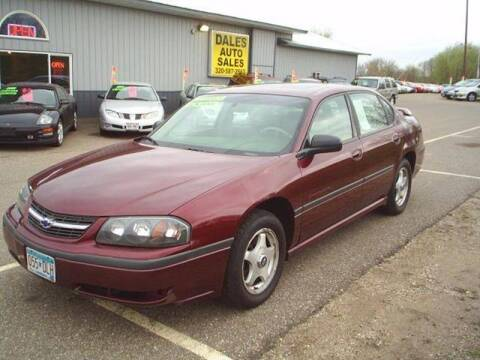 2000 Chevrolet Impala for sale at Dales Auto Sales in Hutchinson MN