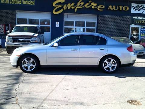 Infiniti g35 for sale in south dakota for Wheel city motors sioux falls sd