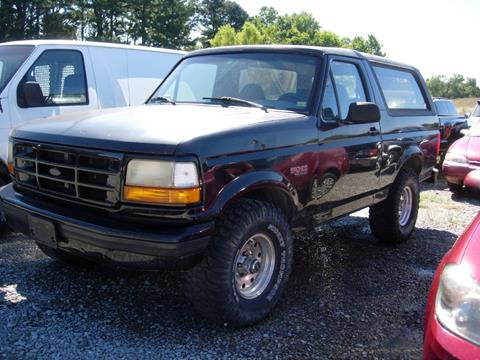 1996 Ford Bronco for sale at Greg Vallett Auto Sales in Steeleville IL