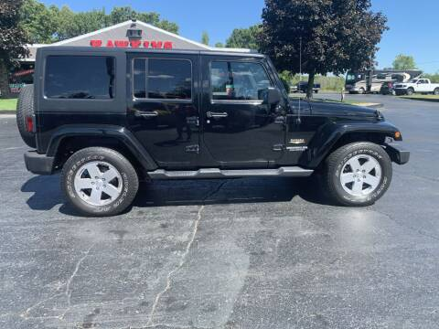 2012 Jeep Wrangler Unlimited for sale at Hawkins Motors Sales in Hillsdale MI