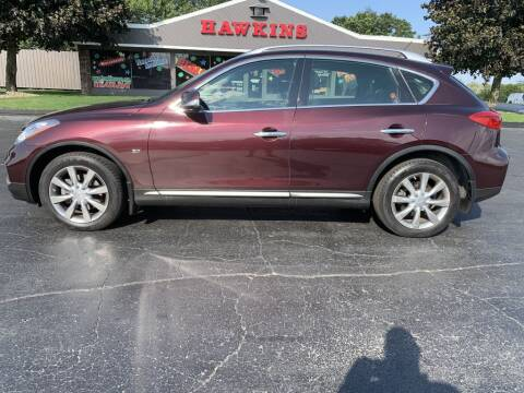 2016 Infiniti QX50 for sale at Hawkins Motors Sales in Hillsdale MI