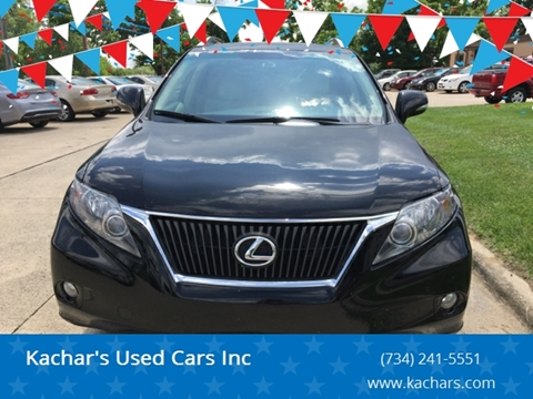 2010 Lexus RX 350 for sale at Kachar's Used Cars Inc in Monroe MI