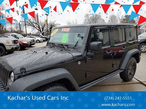 2016 Jeep Wrangler Unlimited Black Bear for sale at Kachar's Used Cars Inc in Monroe MI